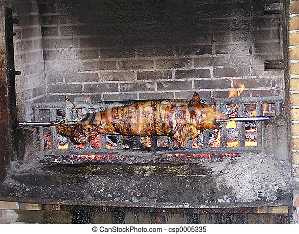 Pig on a Spit - csp0005335