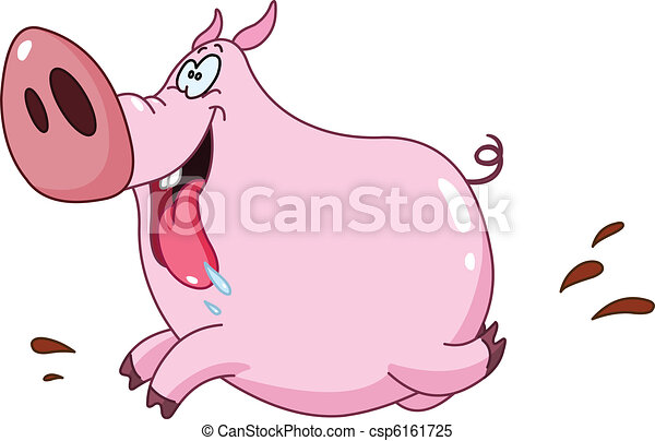 Pig running - csp6161725