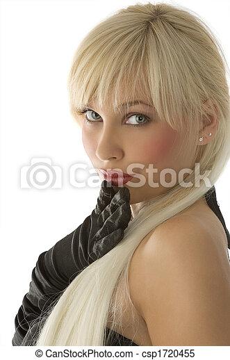 pige, handsker, lys - csp1720455