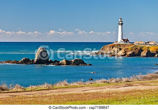Pigeon Point Lighthouse on California coast - csp7199847