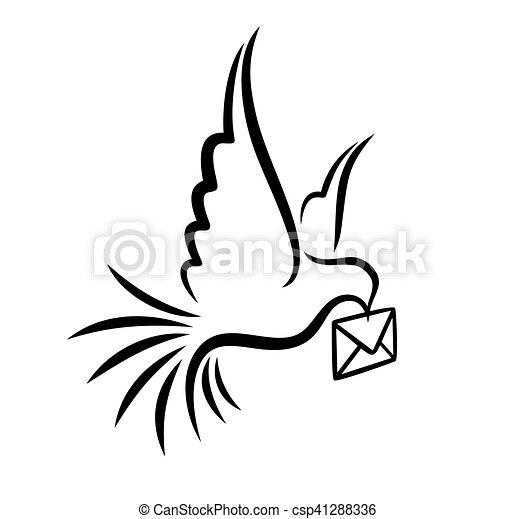 Pigeon postal letter