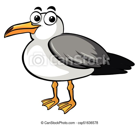 Pigeon with happy face - csp51636578