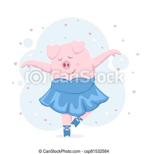 Piggy Ballerina - csp81532584