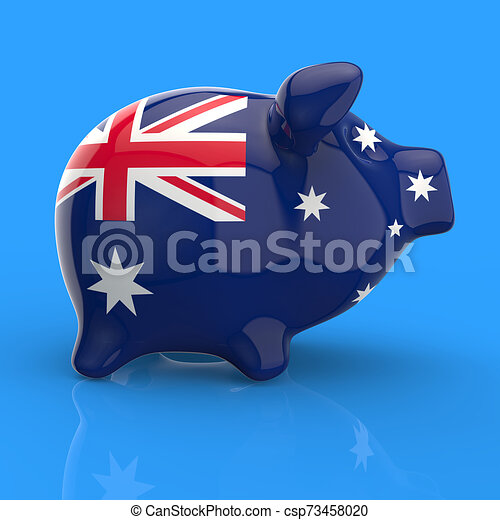 Piggy bank - 3D Illustration - csp73458020