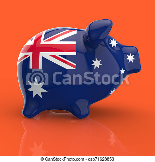 Piggy bank - 3D Illustration - csp71628853