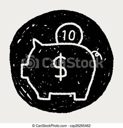 piggy bank - csp26265462