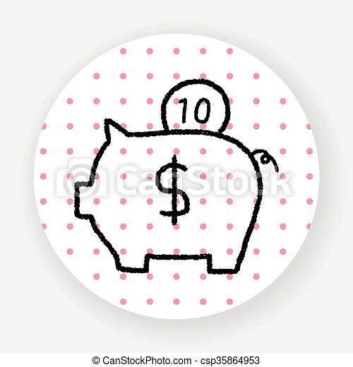 piggy bank - csp35864953