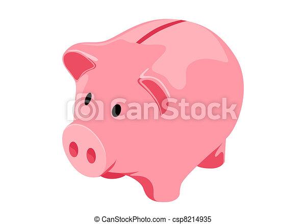 Piggy bank - csp8214935