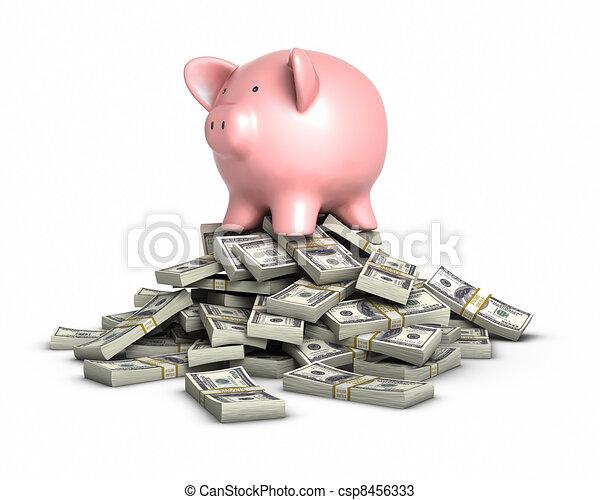 Piggy bank - csp8456333