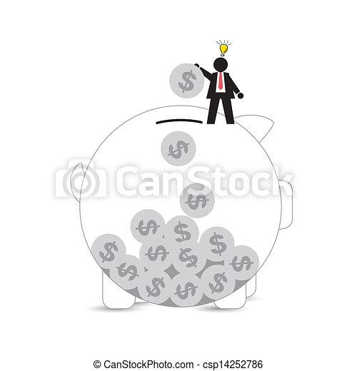 Piggy Bank  - csp14252786