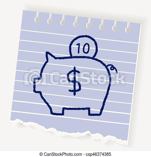piggy bank - csp46374385