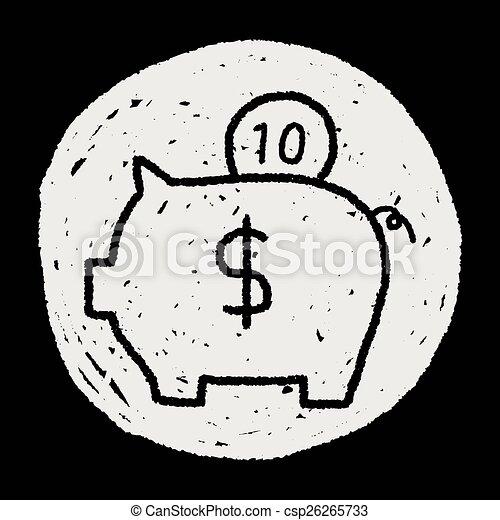 piggy bank - csp26265733