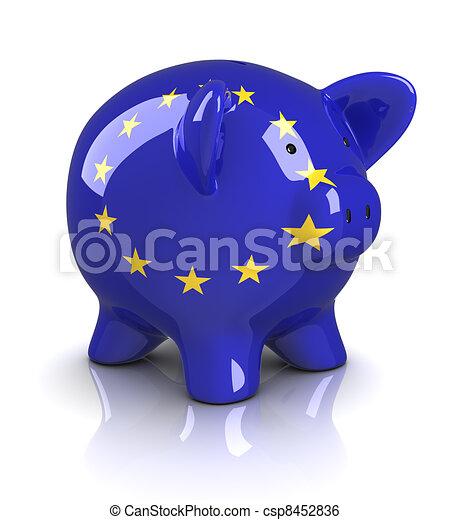 Piggy Bank -European Union - csp8452836