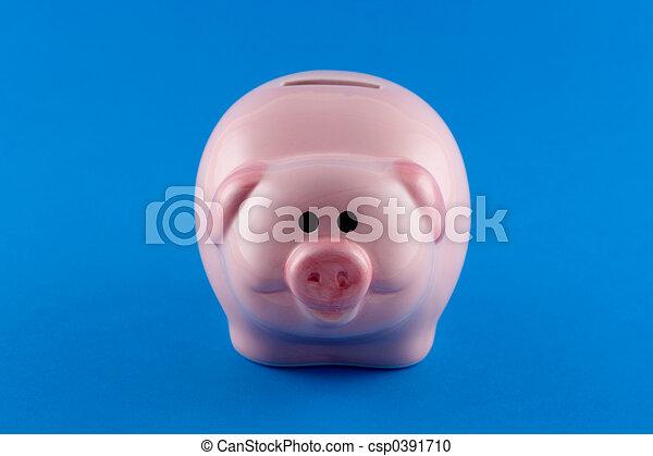 Piggy Bank - front-on - csp0391710
