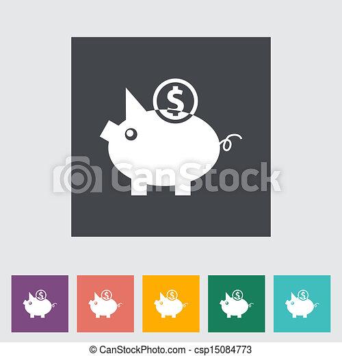 Piggy bank icon. - csp15084773