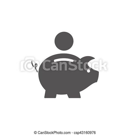 Piggy bank icon - csp43160976
