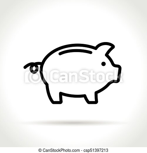 piggy bank icon on white background - csp51397213