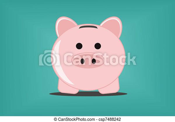 Piggy bank  - csp7488242