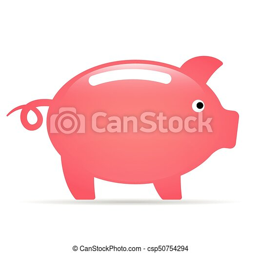 piggy bank on white background - csp50754294