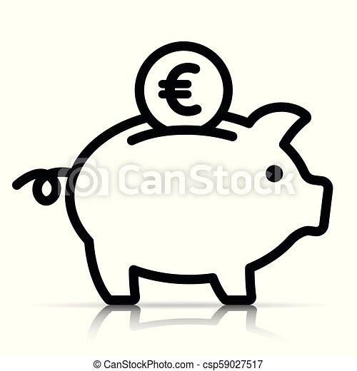piggy bank on white background - csp59027517