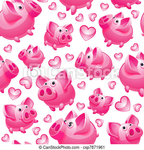Piggy Bank on white background - csp7871961