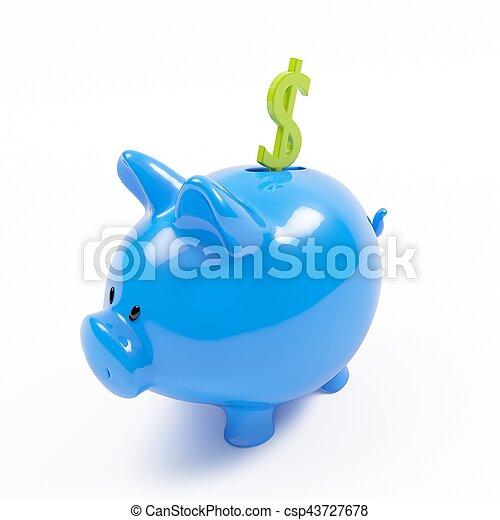 piggy bank - csp43727678