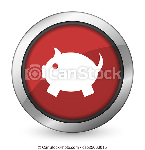 piggy bank red icon clipart search illustration drawings and rh canstockphoto co uk Piggy Bank Clip Art Bank Deposit Clip Art