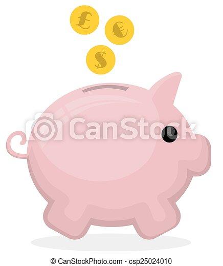 Piggy bank - csp25024010
