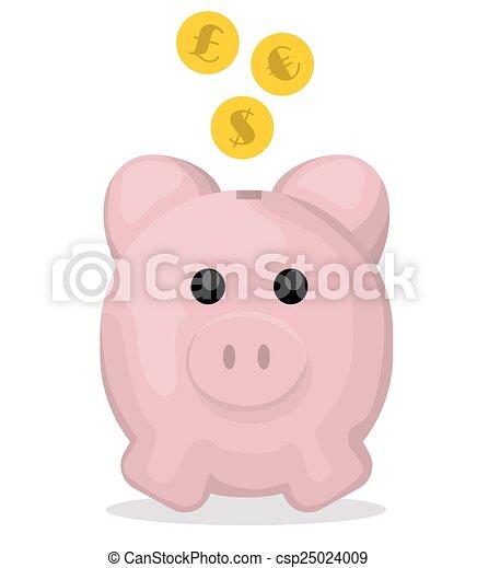 Piggy bank - csp25024009