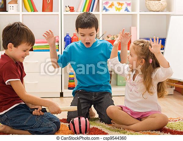 piggybank, jogar crianças - csp9544360