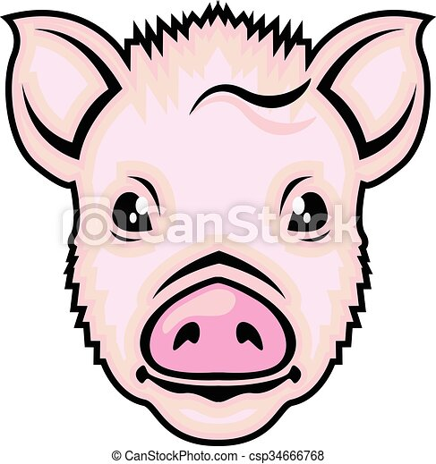 piglet head vector clip art vector search drawings and graphics rh canstockphoto com disney piglet clipart disney piglet clipart
