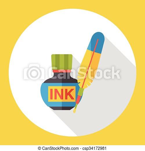 pigment ink flat icon - csp34172981