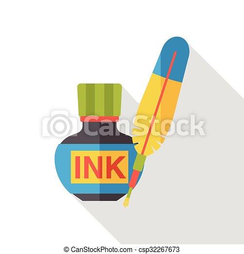 pigment ink flat icon - csp32267673