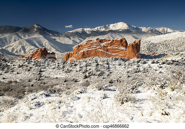 Pike S Peak And The Garden Of The Gods