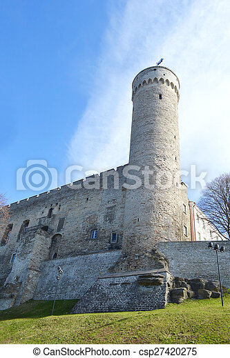 Pikk Hermann tower in Tallinn. - csp27420275
