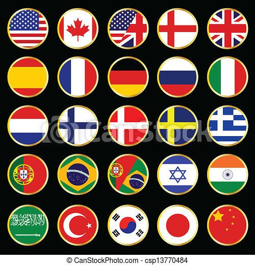 pikolak, świat, bandera - csp13770484