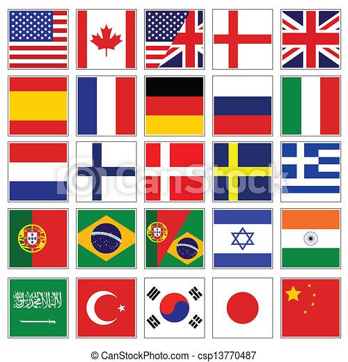 pikolak, bandera, słowo - csp13770487