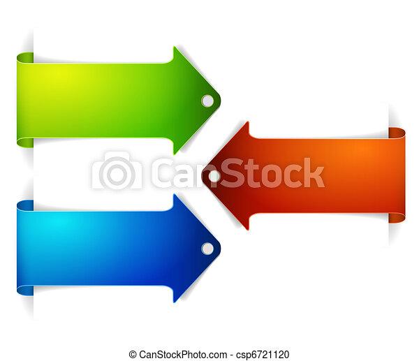 pil, sæt, bookmarks, længe, farverig - csp6721120