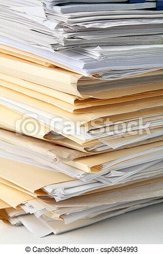 Un montón de archivos - csp0634993