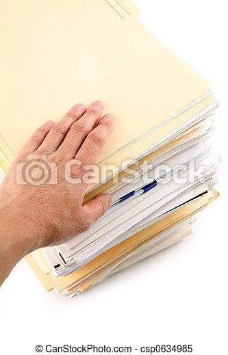 Un montón de archivos - csp0634985