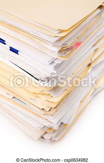 Un montón de archivos - csp0634982