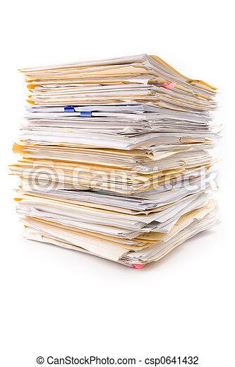 Un montón de archivos - csp0641432