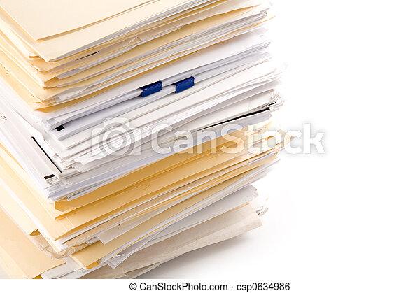 Un montón de archivos - csp0634986