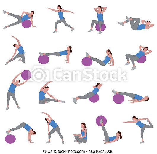 pilates, donne - csp16275038