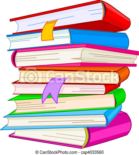 Pile book  - csp4033560