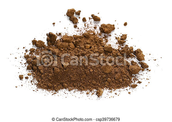 pile dirt isolated on white - csp39736679