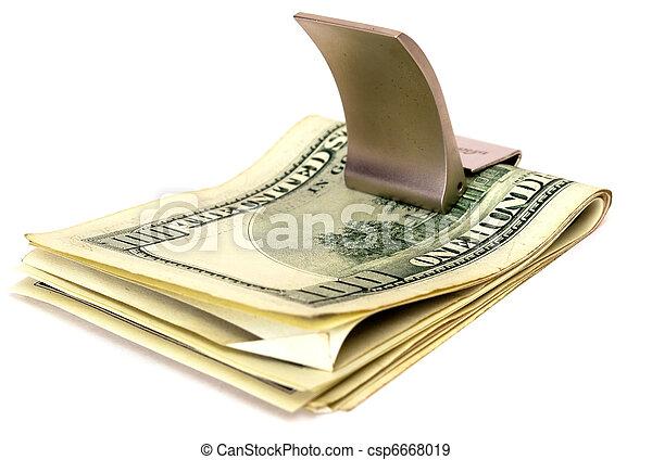 Pile of 100 dollar denominations - csp6668019