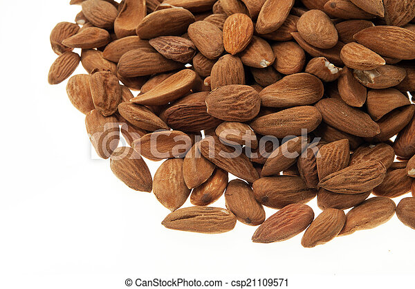 Pile of almonds - csp21109571
