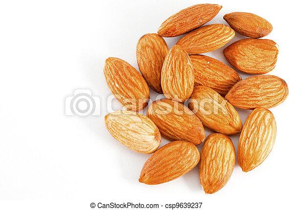 Pile of almonds - csp9639237