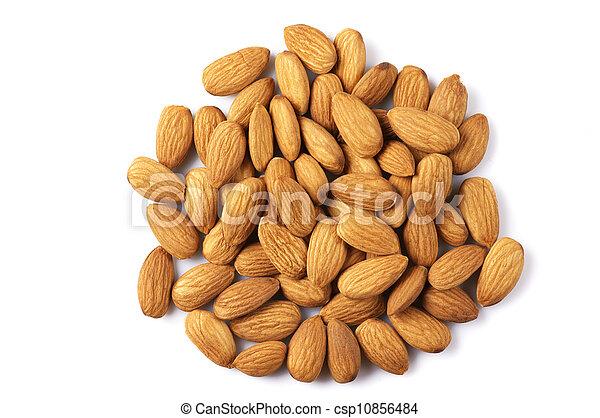 Pile of almonds - csp10856484